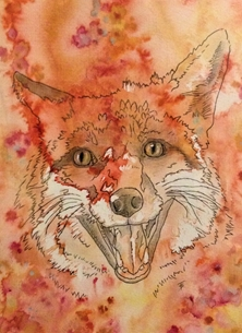 art Foxes Animals  personalised online greeting card