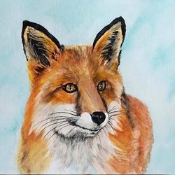 Art fox foxes animals wildlife dad son  granddad  uncle mum daughter Nan aunt friend personalised online greeting card