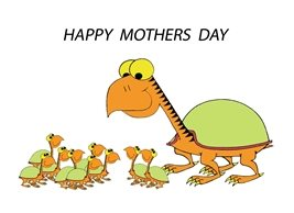Mothers Turtle Tortoise animals fun personalised online greeting card