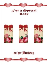 Birthday  Flowers Bows hearts red pink white happy  z%a personalised online greeting card