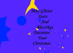 christmas for-him, for-her, christmas, blue, stars, glitter, blessings personalised online greeting card