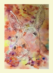 art Donkeys Animals personalised online greeting card