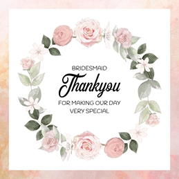 THANKYOU BRIDESMAID wedding personalised online greeting card