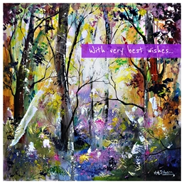 birthday female birthday cards, cards for mum, mum birthday, mother, nan, grandmother, happy birthday, forests, dawn, nature cards, healing cards, purple cards, bluebell woods, personalised online greeting card