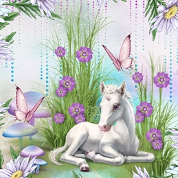 General Birthday GENERAL unicorn fantasy personalised online greeting card