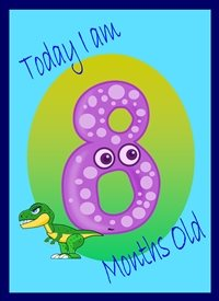 Birthday Colourful Dinosaur 8 personalised online greeting card