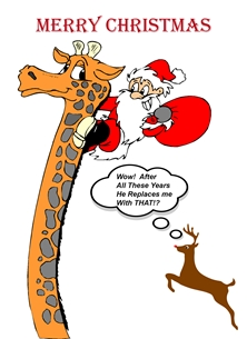 ^santa^,Girafe^,^Rudolf^ personalised online greeting card