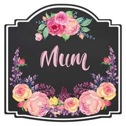 Mothers Birthday Flowers, Roses, Peonies, Black, Pink personalised online greeting card
