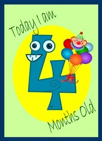 Birthday Colourful Googly eyed 4 with balloons and clown  personalised online greeting card
