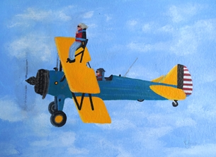 Karen J Jones Wing Walker art personalised online greeting card