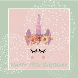 BP Custom Prints  18th Birthday Birthday 198th, , Unicorn personalised online greeting card