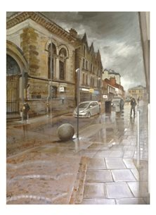 Wildart Rainy day art urban personalised online greeting card