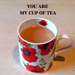 General tea mug cup poppies red white black dad son  granddad  uncle mum daughter Nan aunt friend personalised online greeting card