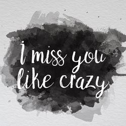 General i miss you like crazy greeting cards made with love by raluca curcan simple black paint personalised online greeting card