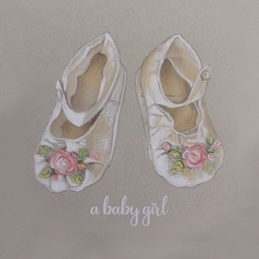 Baby baby girl personalised online greeting card