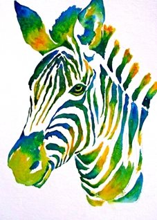 art artwork zebra animals zoo wildlife for-her for-him for-children personalised online greeting card