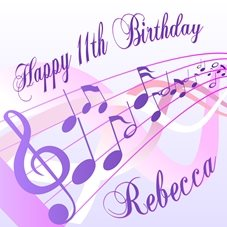 Birthday Rebecca, 11, personalised online greeting card
