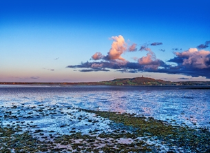 Photography andbc, sunrise, landscape, seascape, coast, strangford lough, ards-peninsula, tranquil, calm, serene,  personalised online greeting card