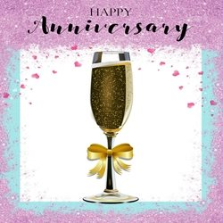 PinkWave Designs Happy anniversary Anniversary Occasion, together personalised online greeting card