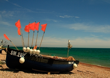 photography Boats, Fishing, Worthing, Seaside personalised online greeting card