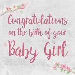 Raluca Curcan New Baby Girl Baby arrival girl greeting  made with love by raluca curcan pink birth z%a personalised online greeting card