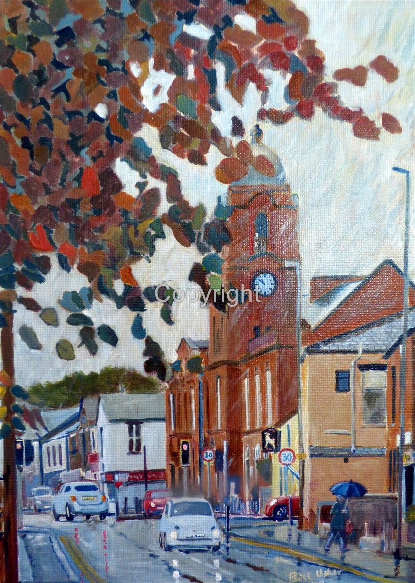 Westhoughton Town Hall Autumn Rain