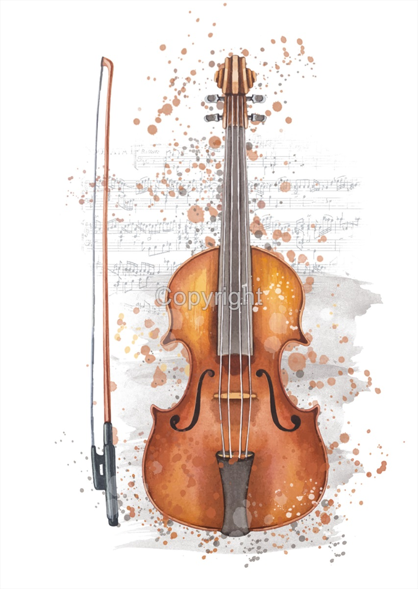 Violin Splash Print