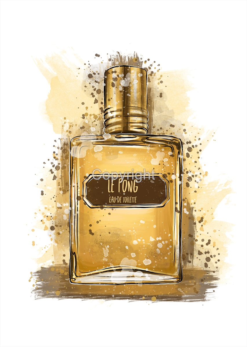 Le Pong  Artistic Aftershave Print