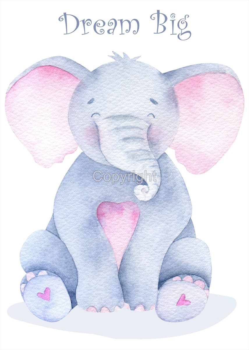 Childrens Elephant Print